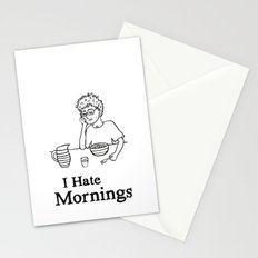 I Hate Mornings Stationery Cards