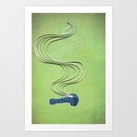 Pipe paper art print Art Print