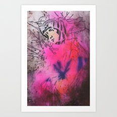 Virgin Mary Mixed-Media II Art Print