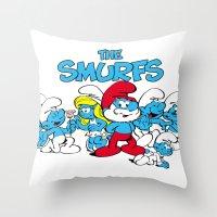 The Smurfs Throw Pillow