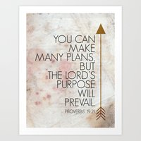Purpose- Proverbs 19:21 Art Print