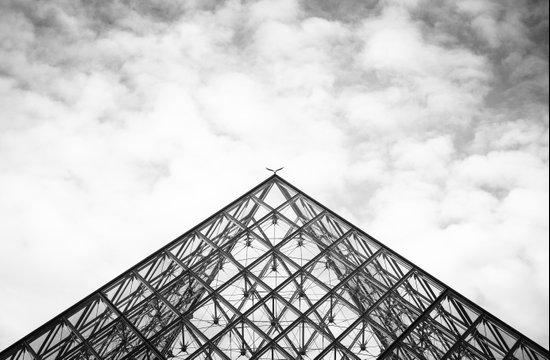 Louvre Pyramid Paris France Art Print