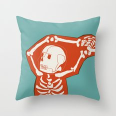 Overlay Skeleton Throw Pillow