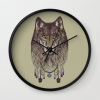 Wind Catcher Wolf Wall Clock
