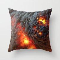 Flaming Seashell 1 Throw Pillow