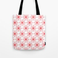 Tote Bag featuring Gradient Strings Blossoms by rollerpimp