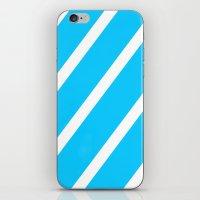 Blue & White Stripes iPhone & iPod Skin