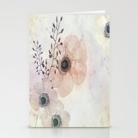 Anemone Purple Stationery Cards
