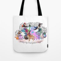 Giddy-Up Fairytale Cowgirl Characters Tote Bag