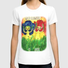 wild flowers in bloom Womens Fitted Tee White SMALL
