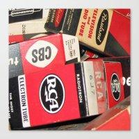 Funky Vintage RCA Radio … Canvas Print