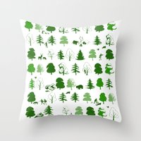If You Go Down To The Wo… Throw Pillow