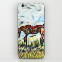 Abstract Horses In Paddo… iPhone & iPod Skin