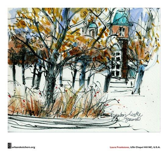 "Laura Frankstone, ""Rosenborg Castle Grounds, Copenhagen"" Canvas Print"