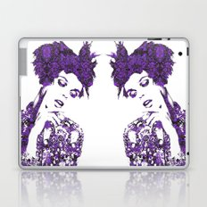 Purple Fashion Floral Laptop & iPad Skin