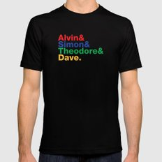 ALVIN&SIMON&THEODORE&DAVE. SMALL Black Mens Fitted Tee