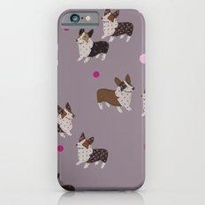 pink dot corgis iPhone 6s Slim Case
