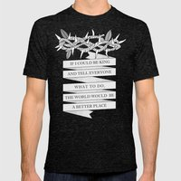 Crown of Thorns Mens Fitted Tee Tri-Black SMALL