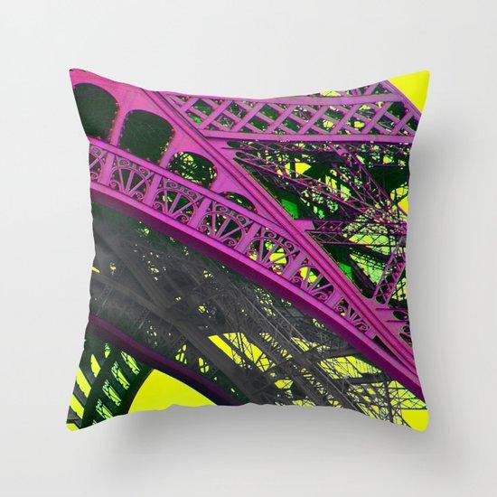 purple paris Throw Pillow