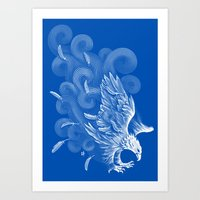 Windy Wings Art Print