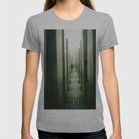 Haunt Womens Fitted Tee Athletic Grey SMALL