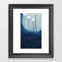 Dandelions On The Moon Framed Art Print