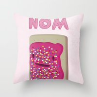 Nom Throw Pillow