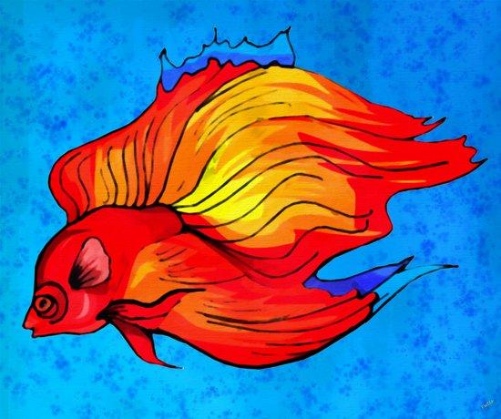 The Fighting Fish Art Print