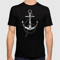 Anchor Mens Fitted Tee Black SMALL