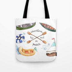 Adventures by Sail or Paddle Tote Bag