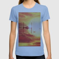 Tie Fighters Womens Fitted Tee Athletic Blue SMALL