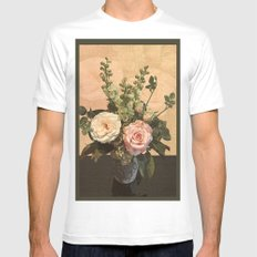 Rose Painting Mens Fitted Tee SMALL White