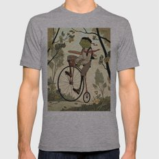 Morning Ride Mens Fitted Tee Athletic Grey SMALL
