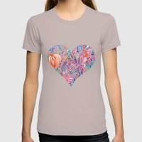 Doodle Heart Womens Fitted Tee Cinder SMALL