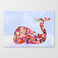 A beautiful whale Canvas Print
