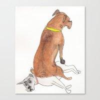Dogsitting Canvas Print