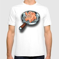 FAT CLUB Mens Fitted Tee White SMALL