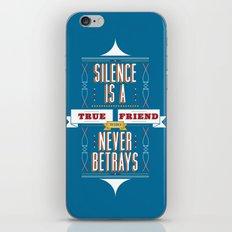 Silence Is iPhone & iPod Skin
