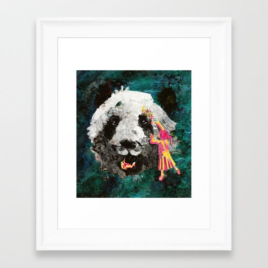 Pandamonium Framed Art Print