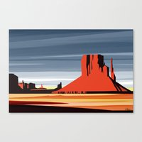 Monument Valley Sunset M… Canvas Print