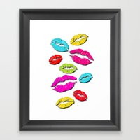 Rainbow Kisses Framed Art Print