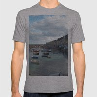 Mousehole, Cornwall Mens Fitted Tee Athletic Grey SMALL