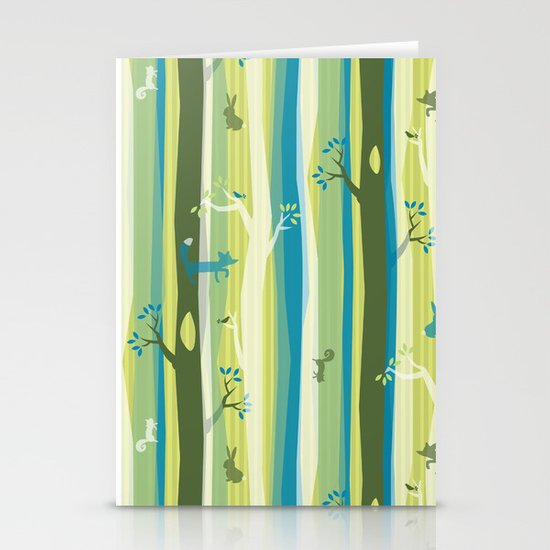 Woodland Stripe Stationery Card