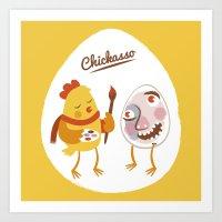 Chickasso Art Print