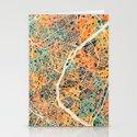 Paris mosaic map #2 Stationery Cards