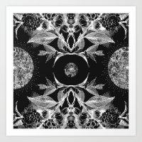 BLACK AURA Art Print