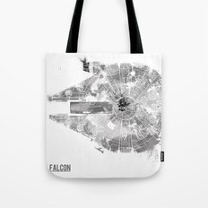 Star Wars Vehicle Millennium Falcon Tote Bag