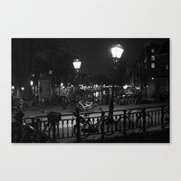 Amsterdam by Night Canvas Print