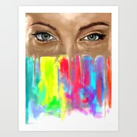 Angel Eyes Art Print