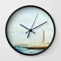 On The Front Textured Fine Art Photograpy Wall Clock